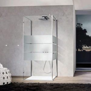 scelta del box doccia satinato vetro temperato