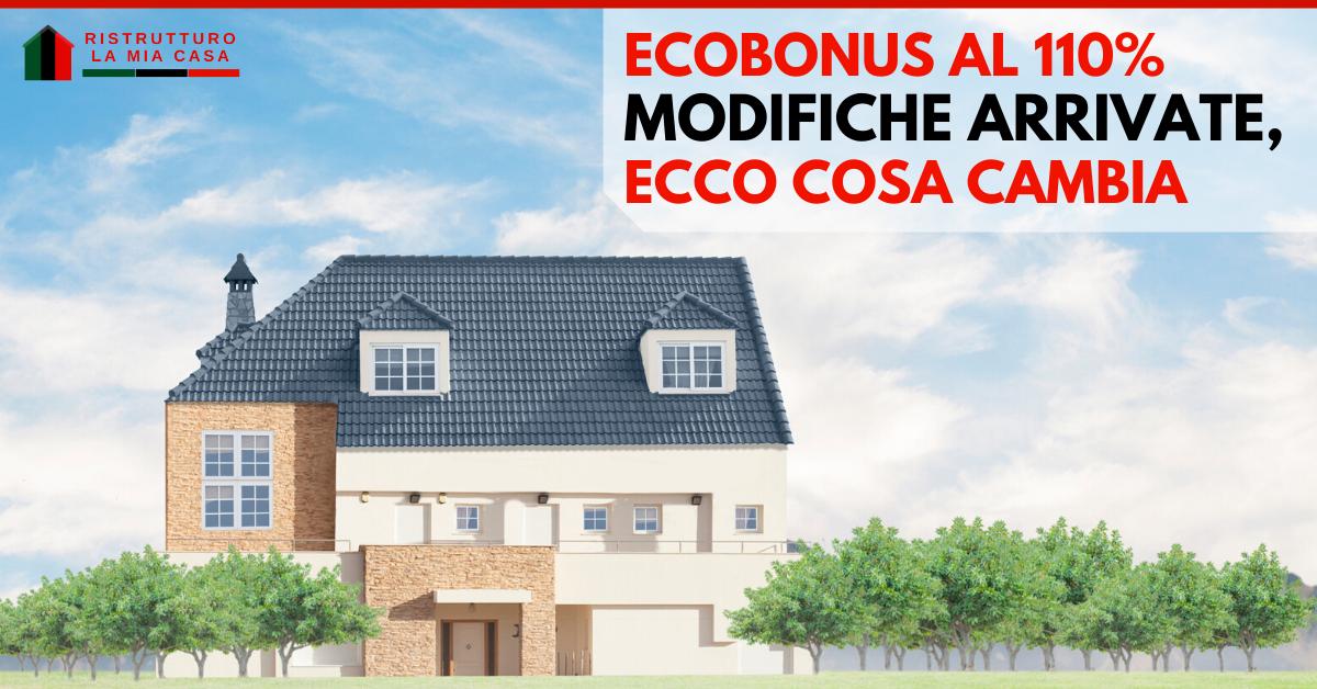 ecobonus 110 modifiche-ecobonus 110 legge-super bonus-bonus covid